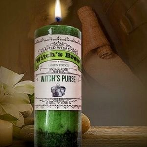 WITCH'S PURSE Candle for Money, Abundance